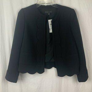 Ann Taylor Women's Black Scallop hem Jacket S